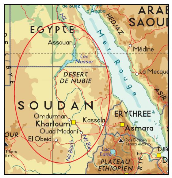 Carte Afrique Nil.Quand L Archeologie De La Vallee Du Nil Dialogue Avec Le