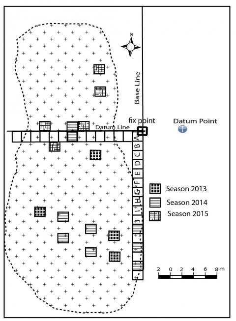 Figure 8 – Excavation map of the site