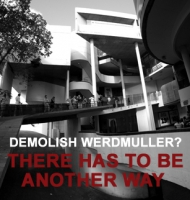 Poster created by Gaelen Pinnock for the campaign to save the Werdmuller Centre.