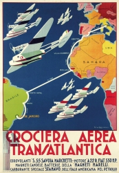 Rome, 1930—Manifesto of the first formation Atlantic flight