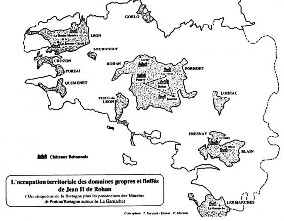 Figure2 – Domaines de Jean II de Rohan