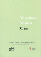 Couverture Abstracta Iranica - Volume 31