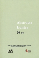 Couverture Abstracta Iranica - Volume 30