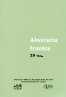Couverture Abstracta Iranica - Volume 29