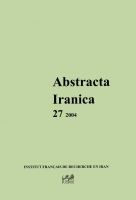 Couverture Abstracta Iranica - Volume 27
