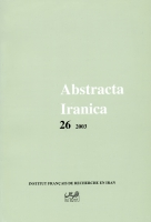 Couverture Abstracta Iranica - Volume 26