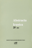 Couverture Abstracta Iranica - Volume 25