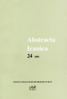 Couverture Abstracta Iranica - Volume 24