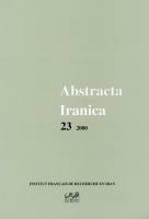 Couverture Abstracta Iranica - Volume 23
