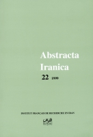 Couverture Abstracta Iranica - Volume 22