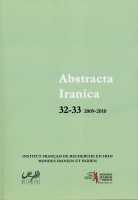 Couverture Abstracta Iranica - Volume 32-33