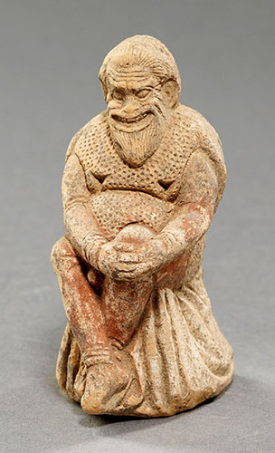 Fig. 6. Actor in the role of a slave. 400–350 B.C.E. Acanthus (Ierissos), Chalkidiki.