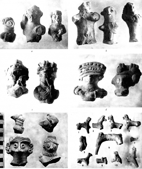 Clay figurines found at Karkemish during the British Museum excavations