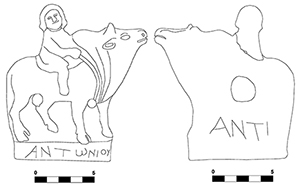Fig. 3a-b. Figurine with the signature of Antonios.