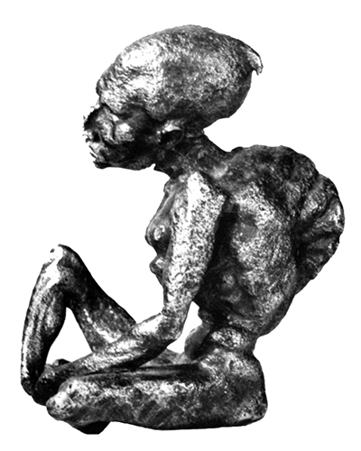 a grotesque terracotta figurine of the first century c e from