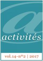 Activités vol. 14 - nº2 - Couverture