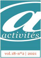 Couverture Activités, 18-1, 2021