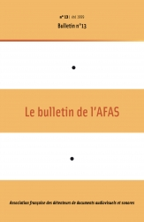 1re de couverture du bulletin n°13