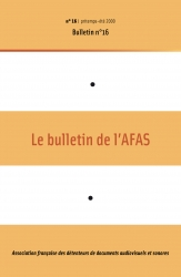 1re de couverture du bulletin n°16
