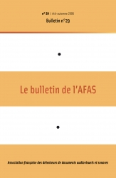 1re de couverture du bulletin n°29