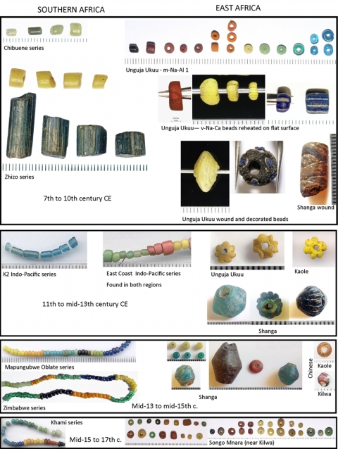 Divergent Patterns In Indian Ocean Trade To East Africa And Southern Africa Between The 7th And 17th Centuries Ce The Glass Bead Evidence