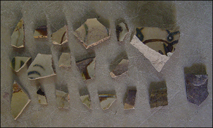 Figure 1: Well sherds from bowls, underglazed brown-iron painted stoneware