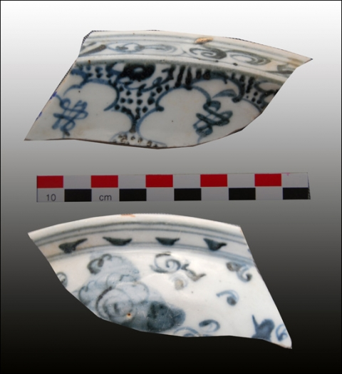 Figure 25: Large dish, blue-and-white