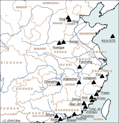 Chinesestyle Ceramics In East Africa From The Th To Th Century - Jingdezhen map