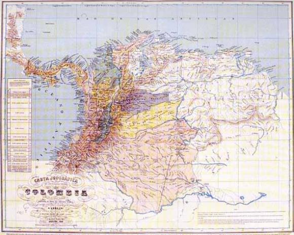 Mapa Politico Estados Unidos De Colombia.Territorio Nacional Cartografia Y Poder En La Nueva Granada
