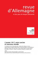 Couverture de Revue d'Allemagne, n° 49-2, 2017