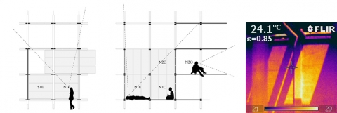 Illustration 14: Experiencing a top lit space typology
