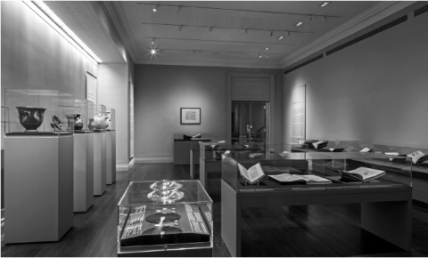 Fig. 1: Overview of the exhibition in Gallery Two. Photo Courtesy ISAW, Department of Exhibitions and Public Programs