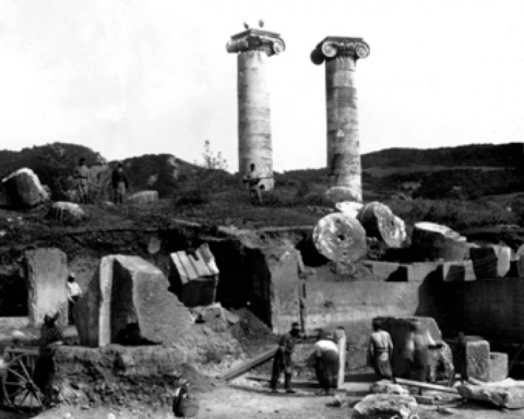 3. Sardis, Temple of Artemis, east end of cella, 1911 (American Society for the Excavation of Sardis, negative no. A.100)