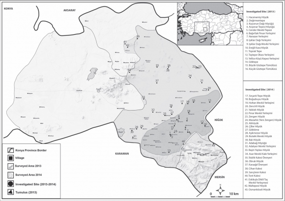 Preliminary Report on the Second Season of the Konya-Ereğli Survey on syrian desert map, euphrates river map, lebanon mountains map, arabian peninsula map, elburz mountains map, suez canal map, anatolian plateau map, pyrenees mountains map, hindu kush map, apennine mountains map, pontic mountains map, tian shan map, anatolian mountains map, plateau of iran map, hejaz mountains map, arabian desert map, himalayan mountains map, balkan mountains map, arabian sea map, zagros mountains map,