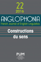 Couverture Anglophonia 22