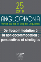 Couverture Anglophonia 25