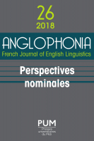 Couverture Anglophonia 26