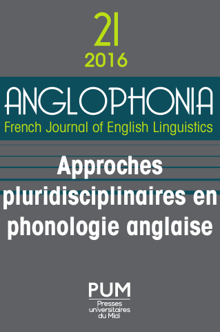 Couverture Anglophonia 21