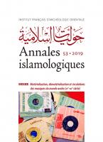 Couverture Annales islamologiques, 53 | 2019