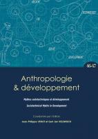 Couverture Anthropologie & développement n°46-47, 2017