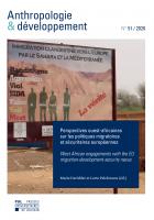 Couverture Anthropologie & développement n°50, 2020