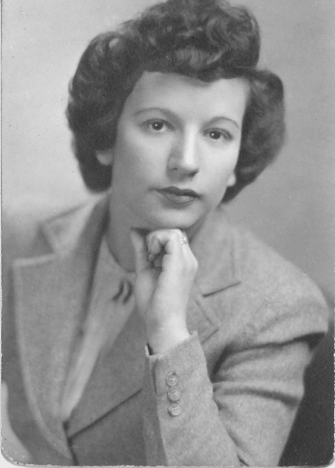 Goldie Berman on the eve of her marriage to Sidney Stoller in 1943