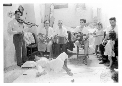Photograph of a re-enacted home therapy in Nardò
