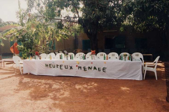 The Table For Guests Of Honour At A Civil Wedding Ceremony