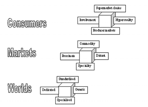 Diagram 1. World's of Production in the local food sector, after Storper, 1996