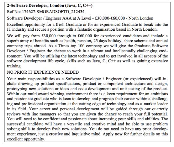 offre d emploi en anglais exemple da34