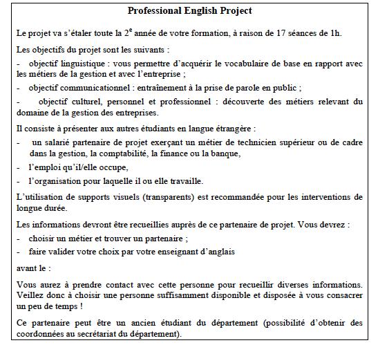 exemple de presentation en anglais