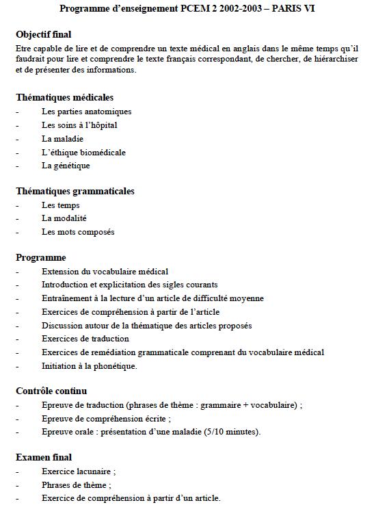 Formation Des Enseignants En Langues De Spécialité Exemple