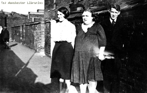 Image 12. Working-class young woman with her mother and brother, 1931