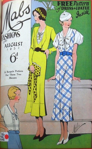 Image 7. Mabs fashion magazine, August 1932, priced at six pence. Mabs magazine's target audience was the young working-class woman